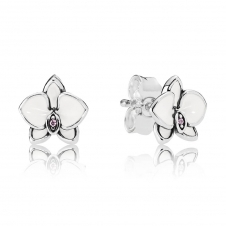 White Orchids Stud Earrings 290749EN12