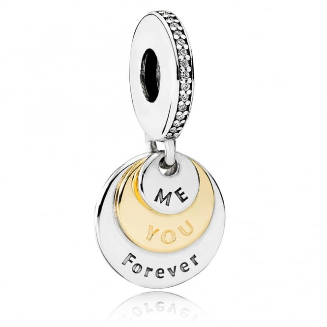 PANDORA You and Me Forever Pendant Charm 791979CZ